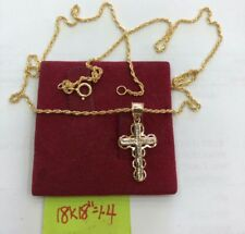 Gold Authentic 18k gold cross necklace