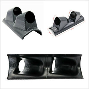 "Right Side ABS Carbon Fiber Car 2"" 53mm A Pillar Pod 2-Hole Gauge Holder Bracket"