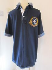 ST GEORGE by DUFFER Navy Blue Double Collar Polo Shirt UK M