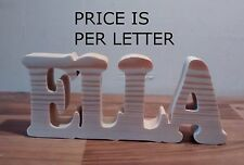 FREE STANDING PINE WOODEN NAME PLAQUE PLAQUE/SIGN, Large wooden letter, numbers