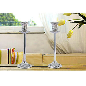 Metal Taper Candle Holder Candlestick Stand with Embossed Texture Home Décor