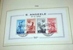 Belgien 1945 bis 1981: Fast komplette gestempelte Sammlung im Schaubek-Album