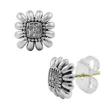 LAGOS Prêt-à-Porter Diamond Daisy Small Stud Earrings in Sterling Silver