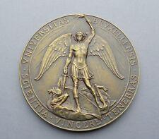 Antique Large Religious Medal. Saint Michel Michael Archange. 1944. By Devreese.