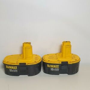 2x Dewalt 18v 2.6ah Nimh Battery