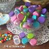 50 Clear JARS aqua lime pink purple Caps Makeup Sample container 3301 1tsp DECO