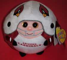"Ty Beanie Baby Ballz ~ ARIZONA CARDINALS 5"" NFL Football ~ MINT ~ NEW ~ IN HAND"