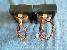 PAIR OF BGW 70V LINE TRANSFORMERS WITH 100W & 200W TAPS HUGE 6lb IRON