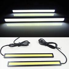 2x Super Bright White Car COB LED Lights -DRL Fog Driving Lamp Waterproof 12V HS