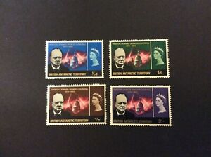 1966 British Antarctic Territory Churchill Commem. set of 4.