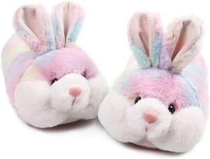 Caramella Bubble Classic Bunny Slippers for Women Funny, Multicoloured, Size