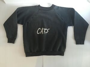 Vintage 1980s CATS Musical Double Sided Graphic Sweatshirt Size Small