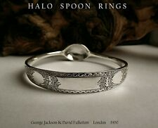 STUNNING VICTORIAN SOLID SILVER SUGAR TONG BANGLE 1897 WITH ASSAY CERTIFICATION