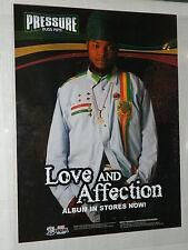 PRESSURE BUSS PIPE (Reggae) /  Original Promo Label  Poster  - 43 x 56