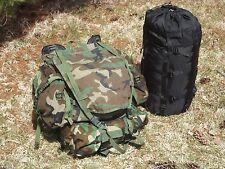 MOLLE II Woodland Survival Standard Pack + Goretex MSS Modular Sleeping System