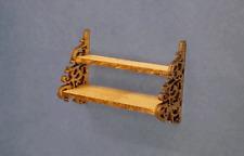 Dollhouse Miniature 1:12 Scale Oak wall shelf - Artist Made Furniture