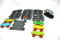 Lego Duplo Train Track Lot 26 Pieces Clean Bright Rolling Stock Engineer