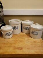 PFALTZGRAFF Yorktowne Canister Set of 4 - Flour Sugar Coffee Tea