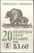 Scotts Booklet #137   20-18c AMERICAN WILDLIFE, MNH