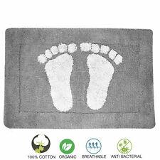 Towelogy® Cotton Bath Mats 2000gsm Thick Non Slip Toilet Bathroom Rugs 45cmx70cm