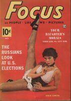 Focus Digest October 1952 Leslie Caron Cheesecake Pin Up 070819AME