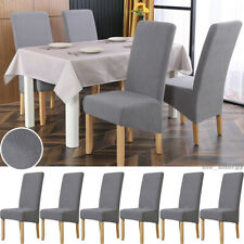 6Pcs Dining Chair Cover Washable Knit High Back Stretch Slipcovers Banquet Decor