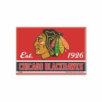 Chicago Blackhawks Foto Magnet mit Logo NHL Eishockey Team Gründungsjahr