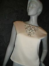 NEW + TAGS * TED BAKER * IVORY ' VIKTRIA ' LINED TOP SIZE '2' = SIZE 10 RRP £199