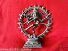 Vintage Solid Brass Hindu Tribal Dancing God Shiva Natraj Statue Figurine  07