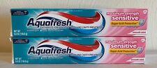 (2) Aquafresh Sensitive Maximum Strength Toothpaste 5.6 oz Sugar Acid Protection