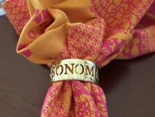 """New listing New Williams Sonoma Gold Set Of 6 Cut Out Napkin Rings """"Williams Sonoma"""""""