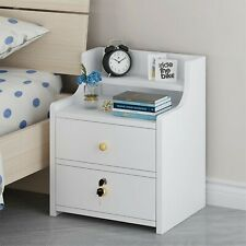 2-Tier Bedroom Nightstand Modern Bedside Table Drawer Sofa Coffee End Table US