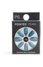 Primark Falsche Nägel - Spitz Perle Jadegrün 24 Nägel mit Kleber