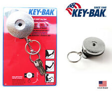 "Key-Bak Retractable 360 Degree Rotation Silver Standard Duty 24"" Stainless Line"