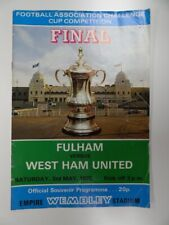 FULHAM v WEST HAM UNITED | FA CUP FINAL PROGRAMME 1974/1975 | 3 MAY 1975