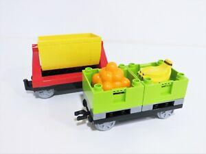 Lego Duplo Eisenbahn / 2 x Eisenbahnanhänger / Güterwaggon