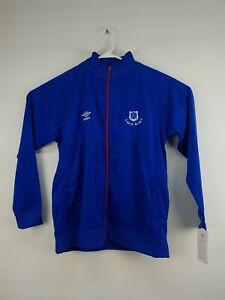 Umbro Blue Red Soccer Zip Up Jacket PTBL INTL SZ L NWT