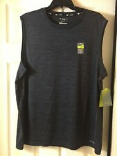Tek Gear Drytek Mens Active-Tank Top Ash/Black combo Xl-100% Polyester -New