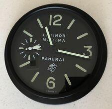 Panerai Luminor Marina Dealer Display Wall Clock PAM005 Style PVD Black Lume