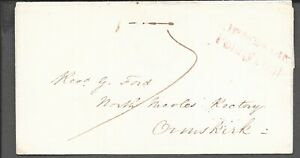 LANCASHIRE 1830 PART ENTIRE ORMSKIRK PENNY POST LANCASTER CDS