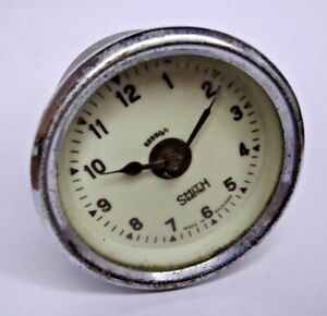 Vintage Smiths Electric Clock 52550/1 - Classic Car Dashboard Part - White Dial