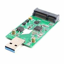USB 3.0 a Mini PCIe Tarjeta de Adaptador de mSATA SSD SATA EXTERNO CADDY Convertidor Board