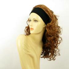 parrucca con bandana semi-lunga biondo scuro rame ref ODESSA G27 PERUK