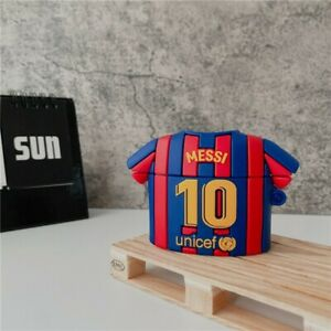 Leo Messi Airpods Pro Protective Case Cover No10 Barcelona Jersey Shaped Silicon
