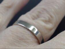 PLAIN WEDDING RING 3.1mm BAND REAL 10k WHITE GOLD 2.8g SIZE 7 (GP2008155)