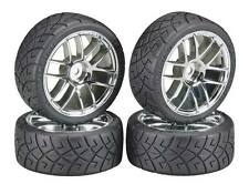 HPI 4702 X-Pattern/Split Mounted Wheels/Tires (4) 1/10 Car NTc3 TC3 4Tec RS4