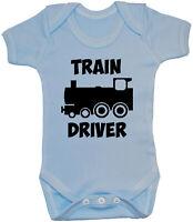 Train Driver Baby Grow Romper Bodysuit Vest 0-24months Boy Girl Gift Funny