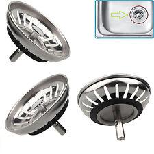 Kitchen Stainless Steel Sink Waste Strainer Plug Drain Stopper Basket Filter 8cm
