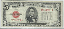 1928 F  SERIES  $5 US NOTE ~~XF~~RED SEAL