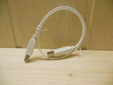 """0,5m USB 2.0 Flachkabel Druckerkabel """"A"""" Stecker auf """"B"""" Stecker weiss"""